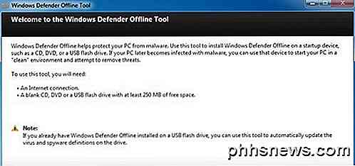Brug Windows Defender Offline Tool til at reparere en inficeret pc