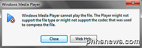 No se puede reproducir archivos AVI en Windows Media Player?