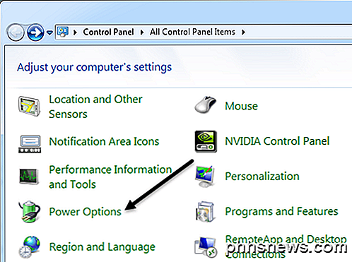 Power-opties configureren in Windows 7/8 / 8.1