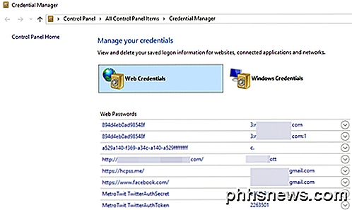 Come trovare le password nascoste e salvate in Windows
