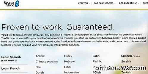 4 kostenlose / billigere Rosetta Stone Alternativen