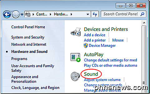 Configurar som surround no Windows