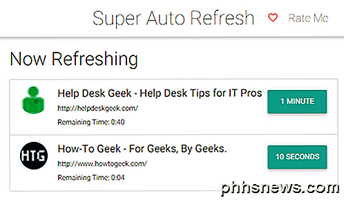 Actualiser automatiquement les pages Web dans votre ...
