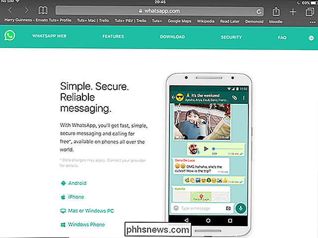 How to use whatsapp web on ipad without phone