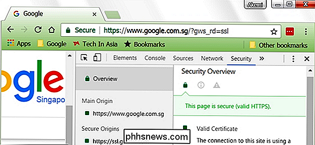 Hur ser du SSL-certifikatinformation i Google Chrome?