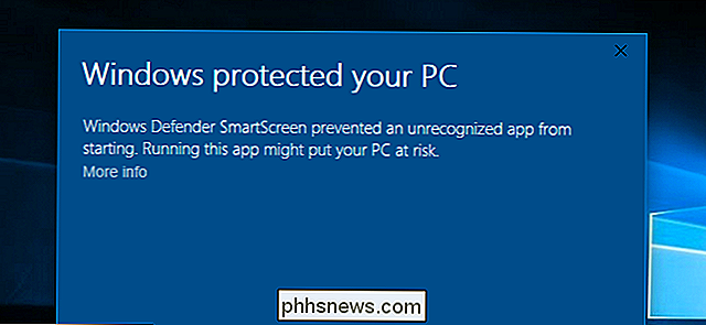 Hoe het SmartScreen-filter werkt in Windows 8 en 10