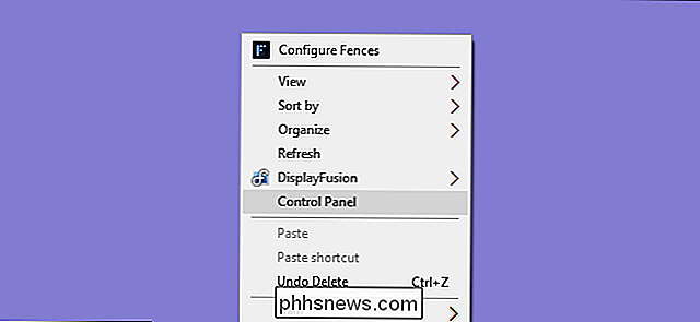 Control Panel toevoegen aan Windows 'Context Menu