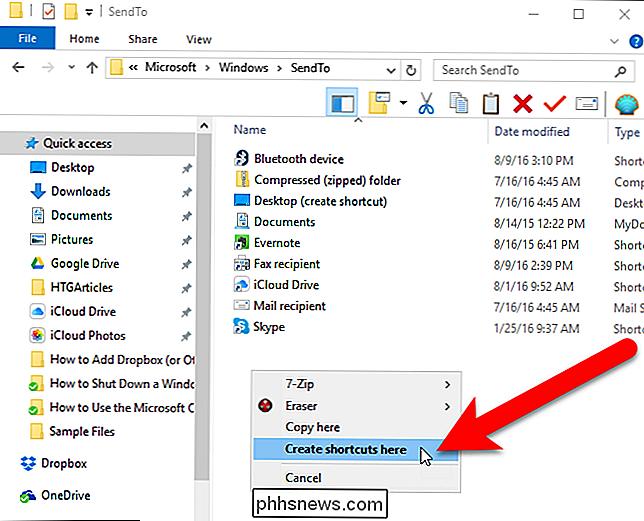 Como adicionar o Dropbox (ou outros serviços de nuvem) ao menu