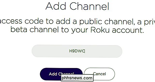 Come aggiungere canali privati nascosti al proprio Roku