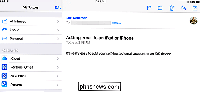 Come aggiungere un account e-mail self-hosted a un dispositivo iOS