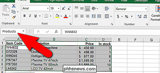 Come assegnare un nome a un intervallo di celle in Excel