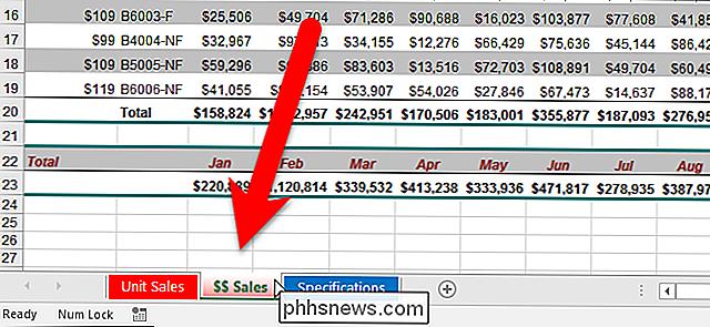 Cómo cambiar el color de las pestañas de la hoja de cálculo en Excel ...