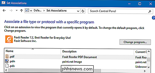 Come cambiare il PDF Reader predefinito in Windows 10