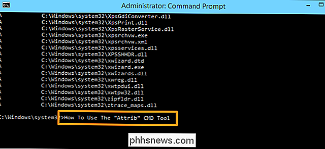 Como alterar os atributos de arquivo com o atributo do Windows Command Prompt