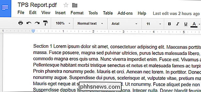 Conversion de fichiers PDF et d'images en documents Google Documents