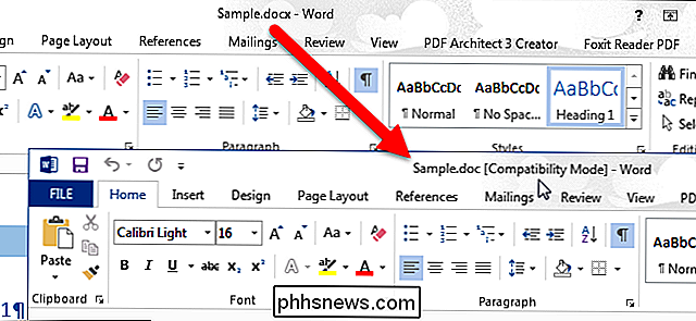 Come convertire un documento Word 2013 in una versione precedente di Word