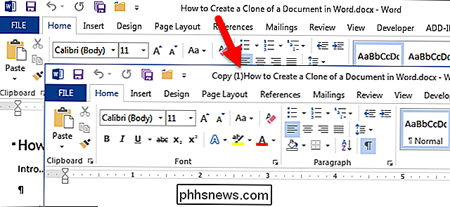 Come creare un clone di un documento in Word