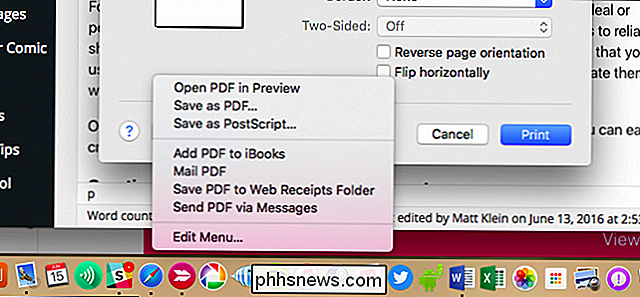 Come creare un file PDF su un Mac