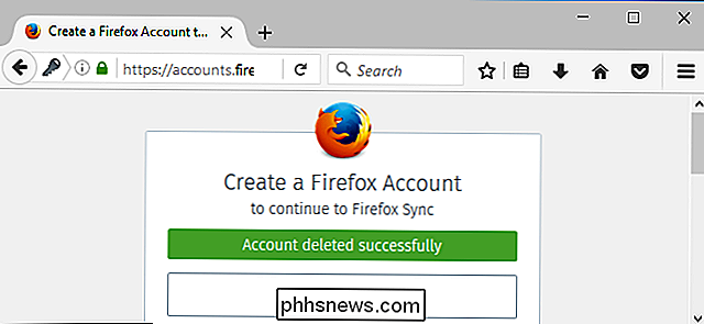 Come eliminare l'account Firefox