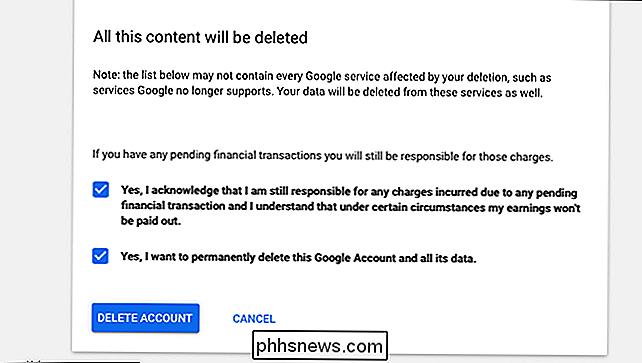 google profiel verwijderen