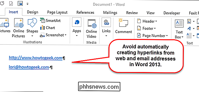 Hyperlinks in Microsoft Word uitschakelen