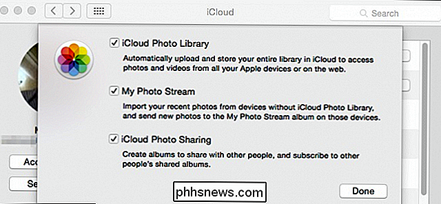 Como desativar o iCloud Photo and Video Sharing do OS X