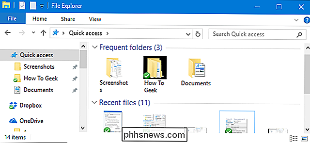 Slik deaktiverer du hurtig tilgang i File Explorer på Windows 10