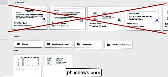 So Deaktivieren Sie Die Schnellzugriffsverknüpfungen In Google Drive
