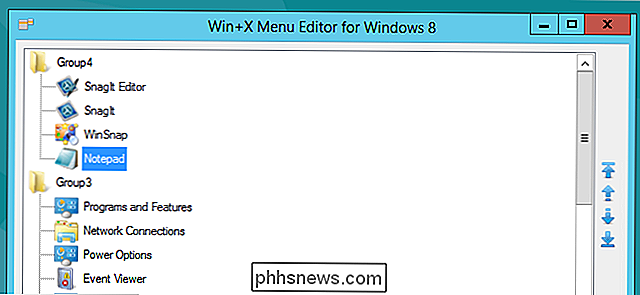 Come modificare il menu Win + X in Windows 8 e 10