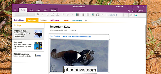 Come incorporare video, musica, documenti e altro in OneNote
