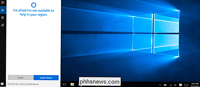 Activation de Cortana Anywhere dans le monde sous Windows 10