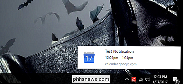 Activation des notifications de bureau pour Google Agenda dans Google Chrome
