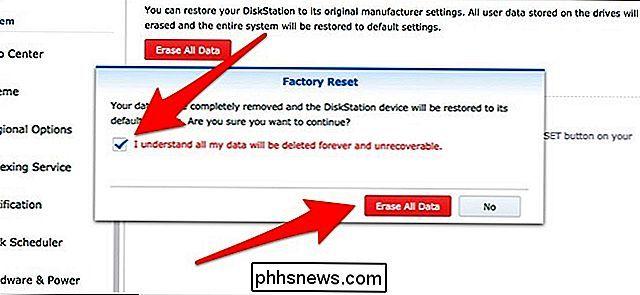 Come ripristinare in fabbrica il Synology NAS - it phhsnews com