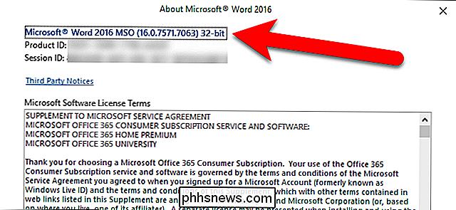 Sådan finder du ud af, hvilken version af Microsoft Office