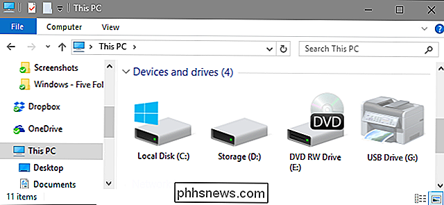 Sådan styrer du Windows til at vise alle dine drev i File Explorer