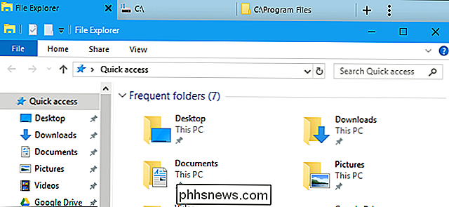 Come ottenere le schede di File Explorer Ora in Windows 10