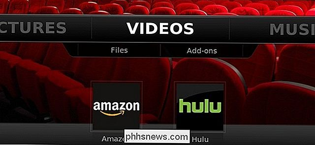 Hulu- en Amazon-video ophalen op XBMC