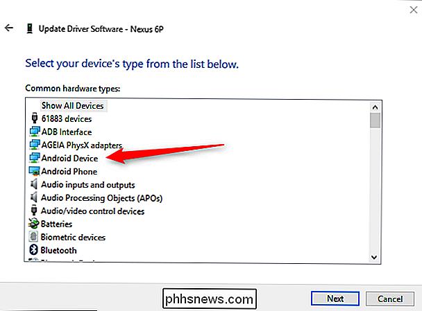 """Finalmente, na última tela você deseja selecionar o """"Dispositivo USB MTP"""" e  depois """"Próximo"""". 70ca230cba"""
