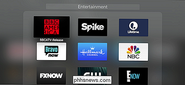 So gruppieren Sie Apple TV-Apps in Ordnern