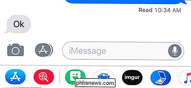 Como ocultar os ícones de aplicativos na parte inferior do iMessage para iPhone