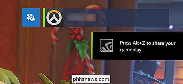 Come nascondere la GeForce Experience di NVIDIA In-Game Overlay Icons e Alt + Z Notification