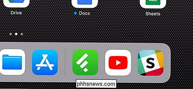 Comment masquer les applications récentes de l'iPad Dock
