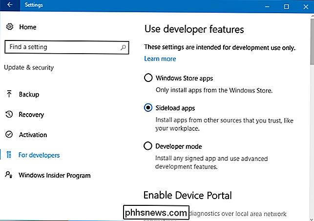 So installieren Sie die  Appx- oder  AppxBundle-Software unter