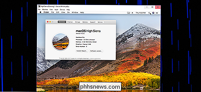 Sådan installeres macOS High Sierra i VirtualBox på Windows 10