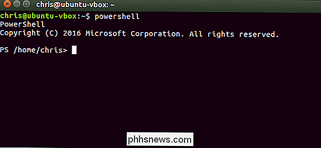 Hoe Microsoft PowerShell op Linux of OS X