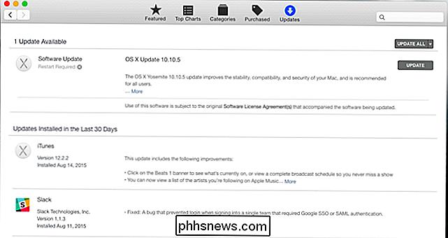 Selecione a guia Atualizações e verifique se você tem a versão mais recente  do Mac OS X e o firmware do seu Mac. Instale as atualizações disponíveis. 56a25a182e74