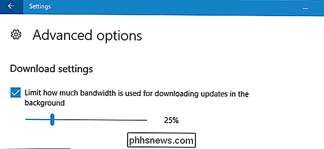 Sådan begrænser du Windows Update's Download Bandwidth på Windows 10