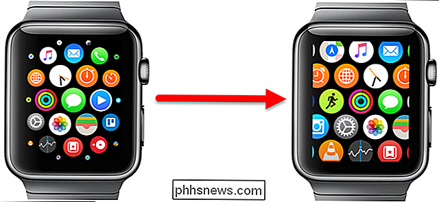 Comment créer les icônes d'applications sur l'écran d'accueil Apple Watch All the Same Size