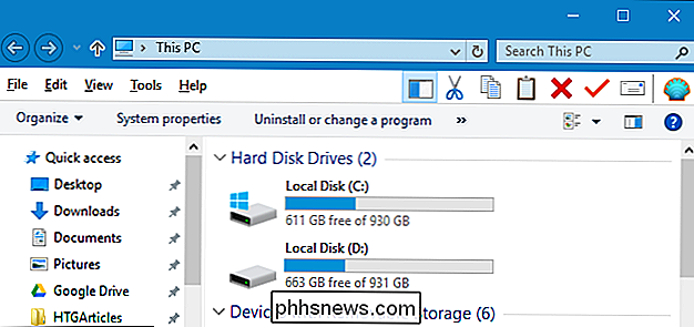 Hur man gör Windows 10: s File Explorer ser ut som Windows 7: s Utforskare för Windows