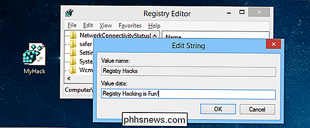 Uw eigen Windows-registerhacks maken